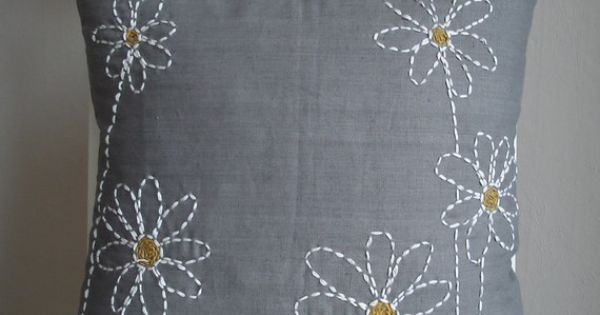 Cojines | Pillows | Pinterest | Daisies, Pillows and Embroidered Pillows