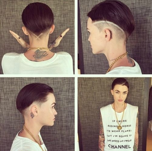 Ruby Rose rocks an undercut and gets creative with a razor.