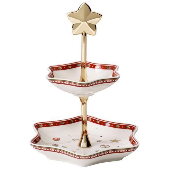 Diese Etagere ist die ideale Tischdekoration für Ihren Weihnachtstisch! Dekorieren Sie die Etagere entweder weihnachtlich oder setzen Sie Ihr Gebäck, wie Plätzchen und Kekse festlich in Szene!