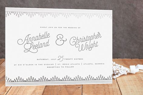 Little Loops Foil-Pressed Wedding Invitations by Ashley Hegarty at minted.com