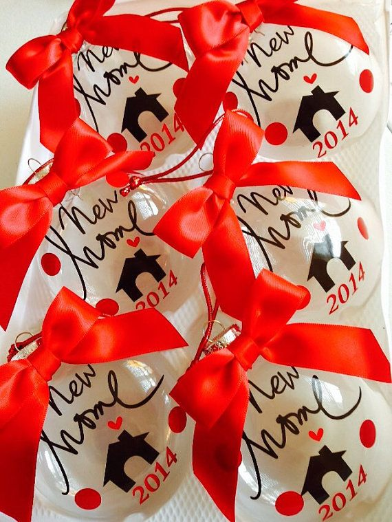 Realtor gift to clients New Home Christmas Ornament Personalized with Gift Box BULK AVAIL