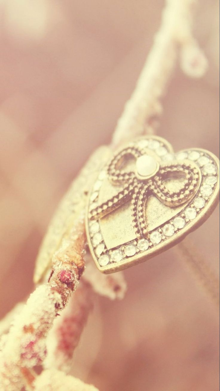 Love Jewellery Wallpaper : Tap image for more iPhone 6 & 6 Plus love wallpapers. Heart Necklace Gold Pink - @mobile9 ...