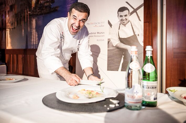 Vladimir Muhin ( born 15 march 1983) is a Russian chef restaurant White Rabbit in the Moscow of Russia.