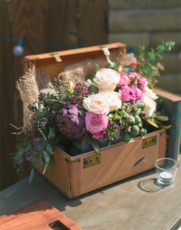 vintage rustic flower decorations for fall wedding ideas #rusticweddings #weddingideas #elegantweddinginvites