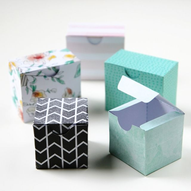 Printable Diy Gift Boxes with downloadable template More