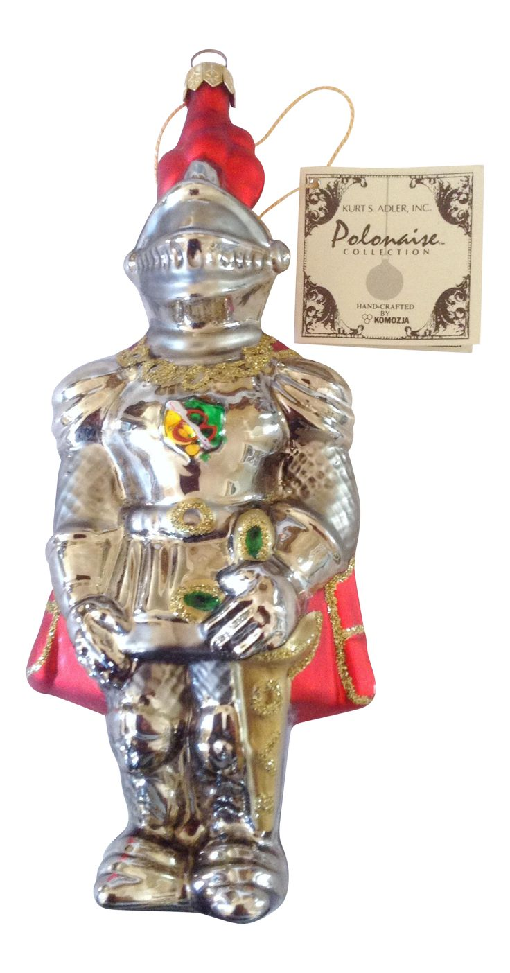 Polonaise Knight in Armor Ornament on Chairish.com