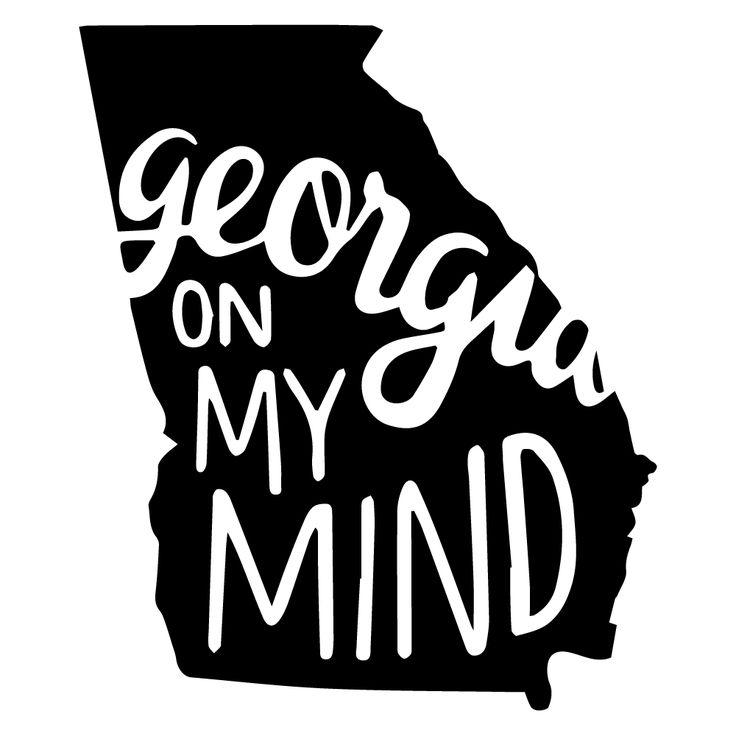 Georgia on my mind decal