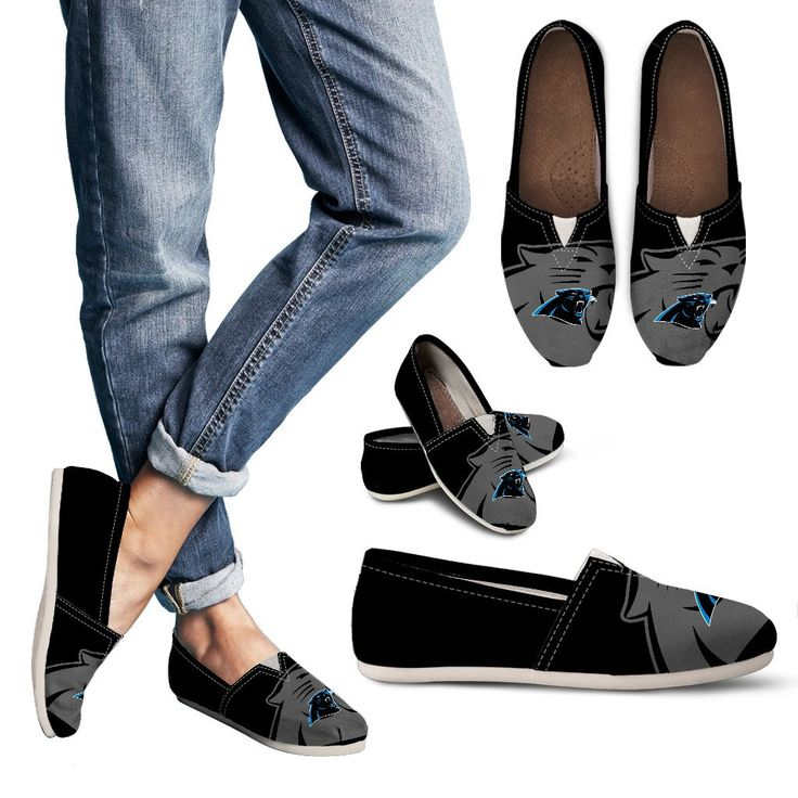 Enormous Logo Mix Tiny Logo Fantastic Carolina Panthers Casual Shoes – Best Funny Store
