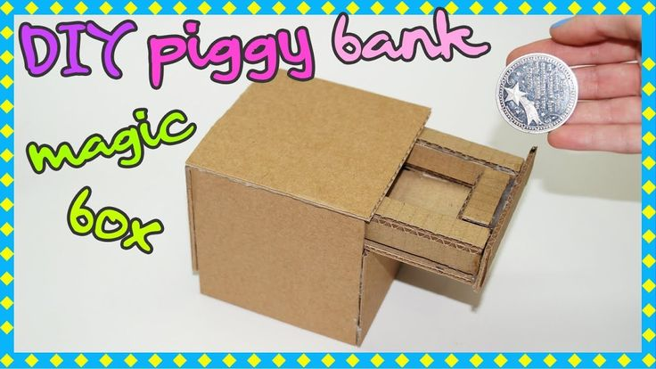 How to Make a Magic Drawer Piggy Bank With Cardboard
