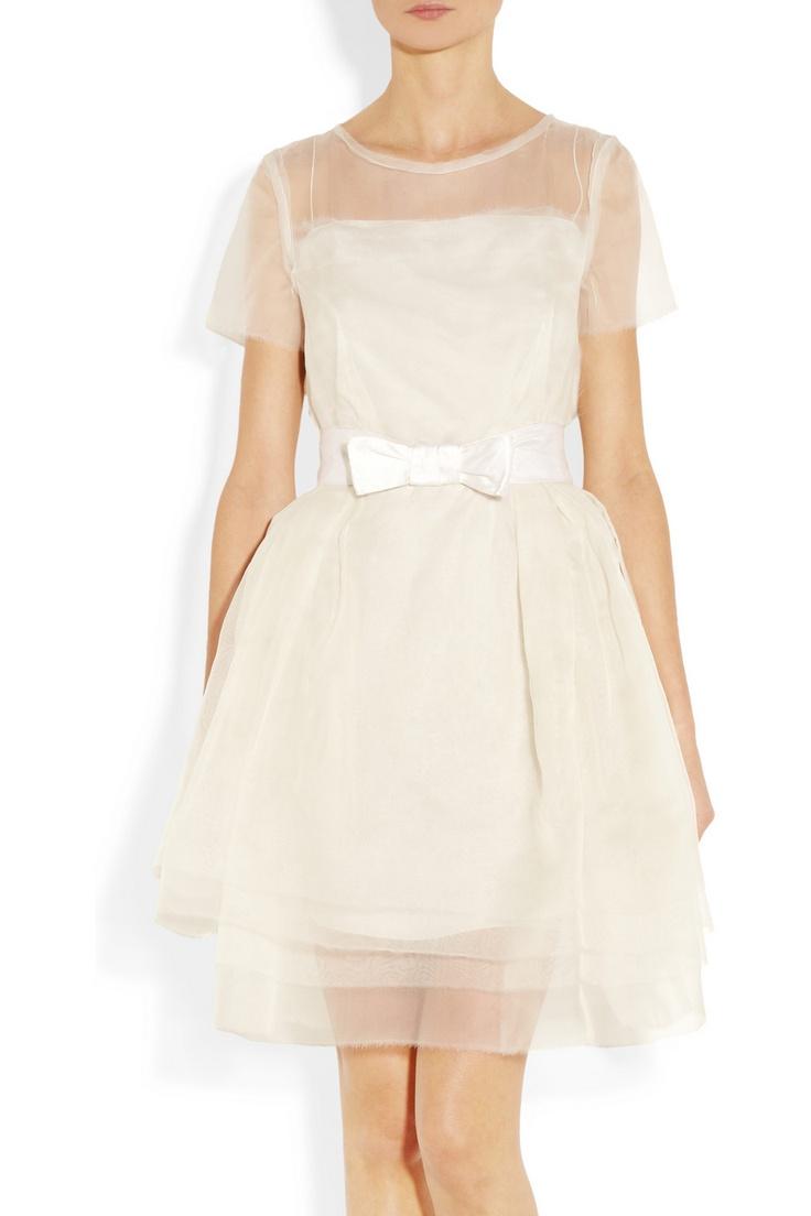 Lanvin Layered silk-organza dress NET-A-PORTER.COM
