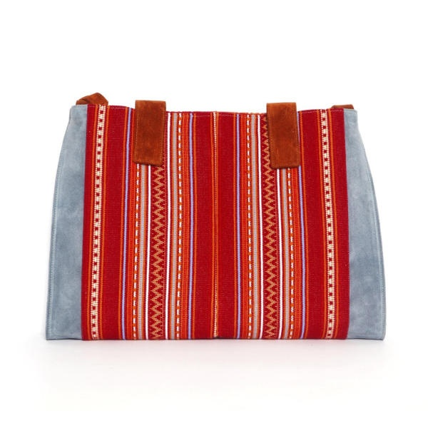 Blue-Red Large Tote Bag by Georgina