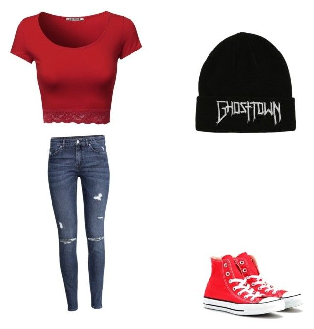 """""""Normal cloths #5"""" by pugshugs on Polyvore featuring H&M and Converse"""