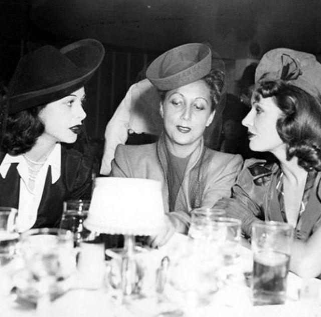 Hedy Lamarr, Anne Warner & Lili Damita