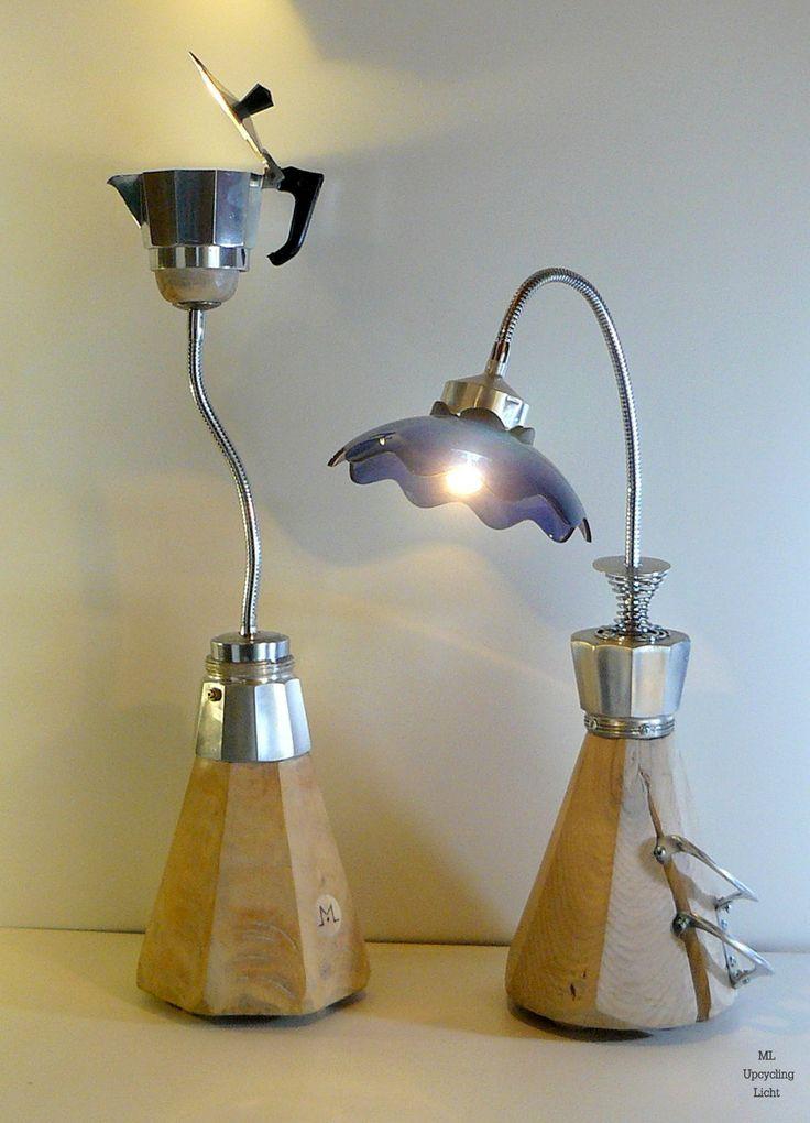 tischleuchten espresso hier wurden zwei italienische espressokocher zu lampen verarbeitet. Black Bedroom Furniture Sets. Home Design Ideas