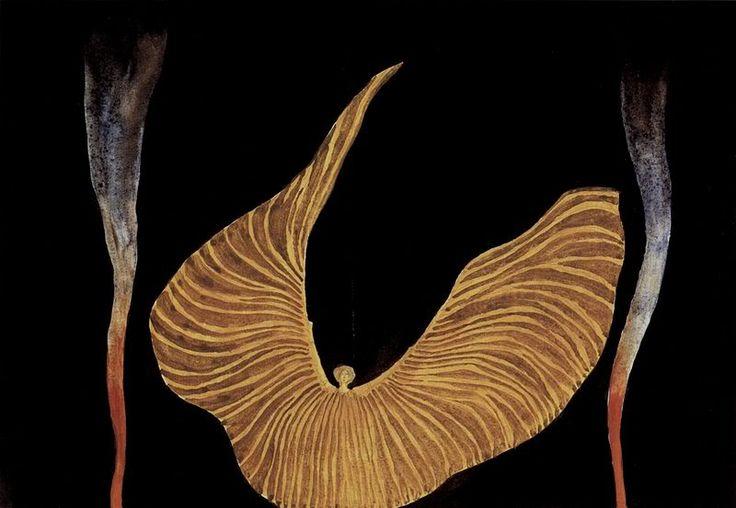 Koloman Moser: Loie Fuller in 'The Archangel' (1902)