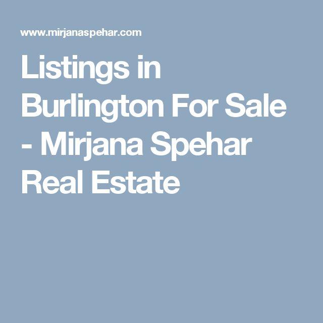 Listings in Burlington For Sale - Mirjana Spehar Real Estate