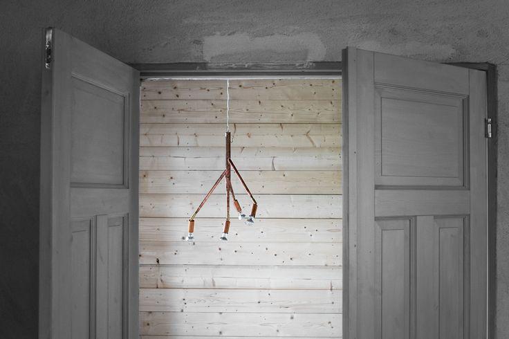 Kvist 4 Pendel Rå Koppar av Jonas Bohlin för Örsjö belysning #copperlightning