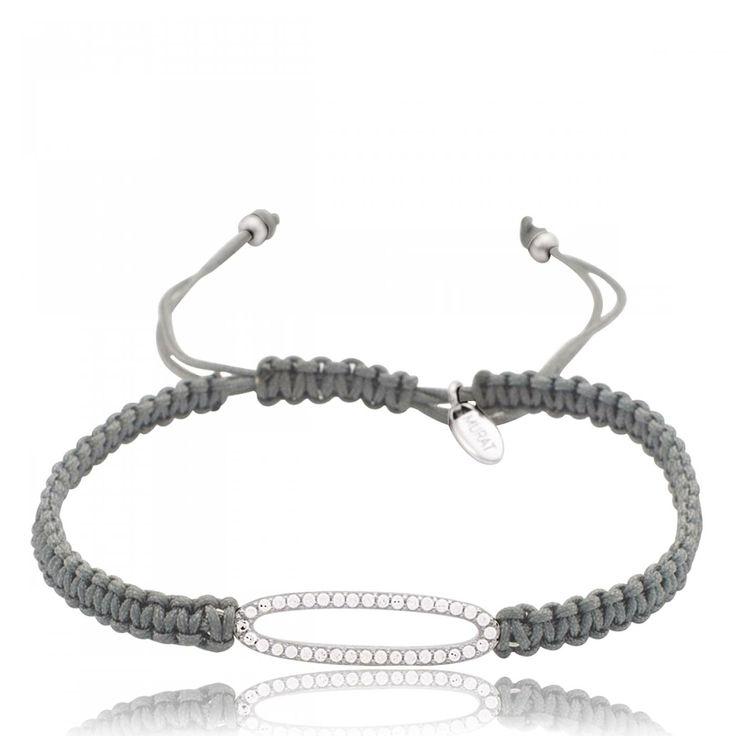 Ladies waxed cotton Republica oval grey cord - Murat Paris