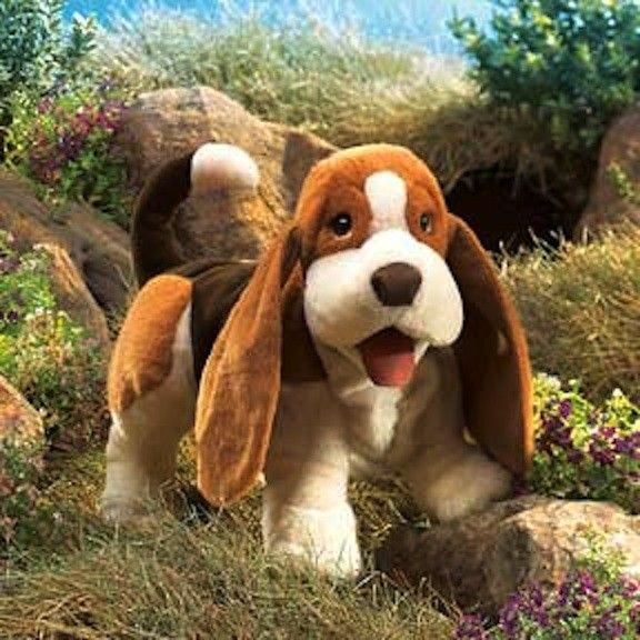 Folkmanis Puppet Basset Hound Dog  #entropywishlist #pintowin  It's not the real thing but is close enough that it will keep missy happy (and our cats too!!)