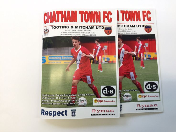 Here is a programme we printed for Chatham town FC. #printed