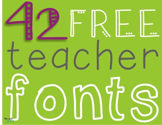 Free Fonts and all teachers can share their teaching activities {bloggers or not} - A Teacher Feature Loaded With Freebies