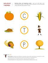 Free Thanksgiving worksheets that focus on important topics like letter tracing, visual discrimination, sight words, listening skills and more.