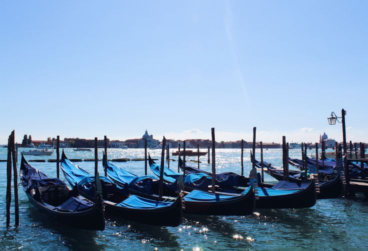 Sparkling Water under the Gondolas... Oh, Venice ♥