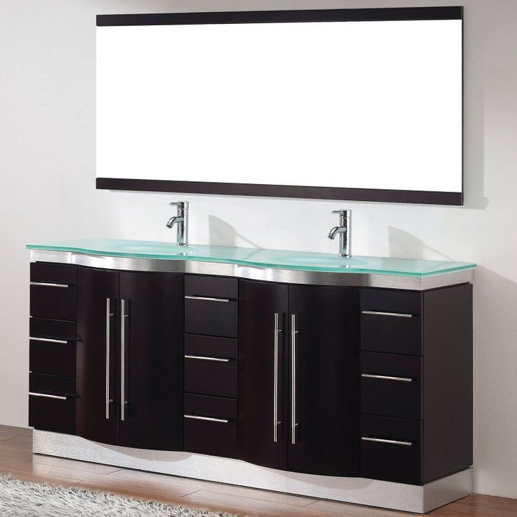 Bauhaus Bath Diara 72 In. Double Bathroom Vanity Set With Mirror    DIARA72DCHMG