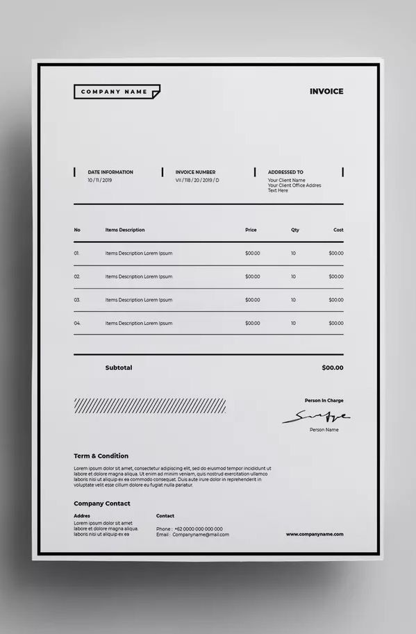 invoice template ai eps easy customizable and editable design well organized and grouped layers 300 dpi resolution