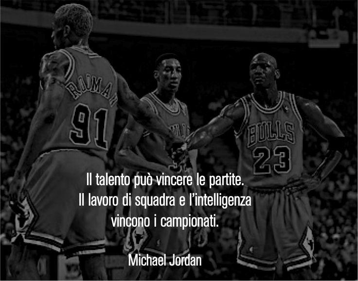 Michael Jordan: l'importanza del lavoro di squadra. #sport #quote #nba #jordan