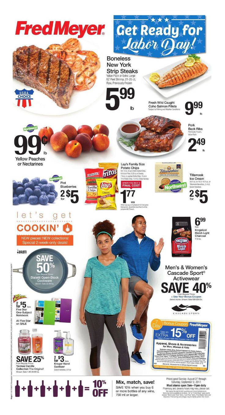 Fred Meyer Weekly Circular August 27 - September 2, 2017 - http://www.olcatalog.com/grocery/fred-meyer-weekly-ad.html