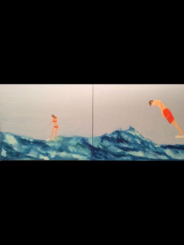 (240 cm x 100 cm) acrylic on canvas, athens 2014 chris von