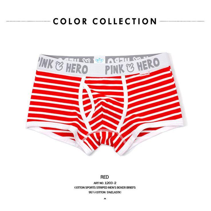 Striped Cotton Comfortable Panties Hot Sale Men Male Underwear Men's Boxer Underwear Sexy Men Underwear Boxer Underpants New