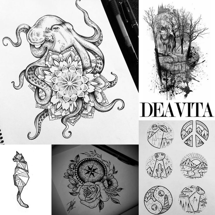 Lovely Dessins De Tatouages Pour Femmes #14: Dessin Tatouage - Plus De 40 Modèles Originaux Pour Toute Partie Du Corps