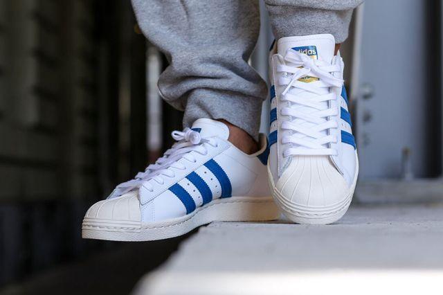 ADIDAS SUPERSTAR 80s (DARK ROYAL/CHALK) - Sneaker Freaker