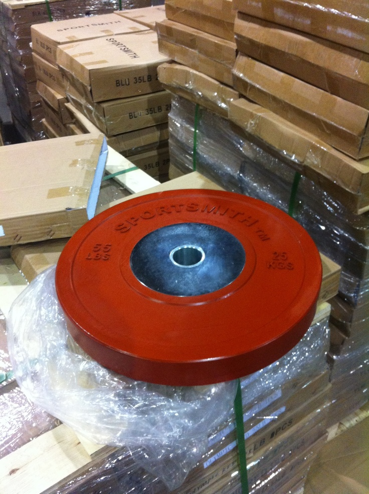 Sportsmith 55 lb Competition Bumper plates.   http://www.sportsmith.net/productsearch.aspx?dsNav=N:757389