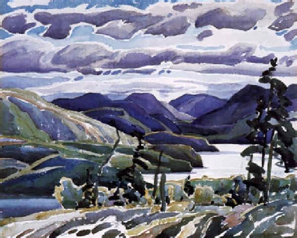 """La Cloche Hills,"" Franklin Carmichael, watercolor, 10.5 x 12.5"", private collection."