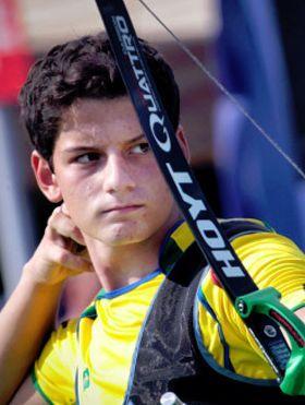 ブラジルの期待の新人、アーチェリーのマルクス・ヴィニシウス選手はその甘いマスクにも注目が集まりそう。リオデジャネイロオリンピック・リオ五輪2016