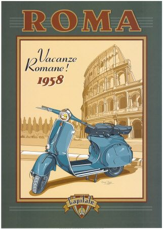 Italy vintage travel poster is one of the best souvenir that you can buy when you do tourism in the city.