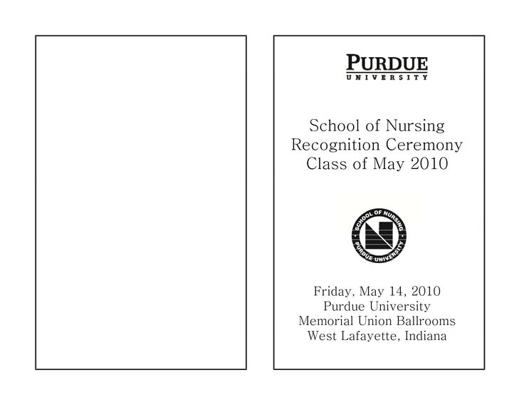 Nursing Graduation Program Template  Google Search  Graduation