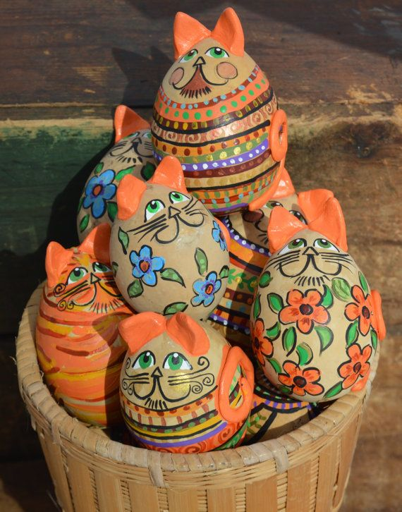 Easter Ornament Gourd Art Easter Egg Tree Egg Gourds by Gourdament