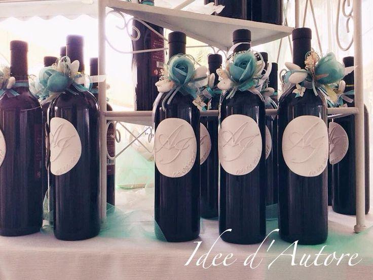 #bomboniera #bottigliadivino #vino #etichettainceramica #ceramica #etichetta…