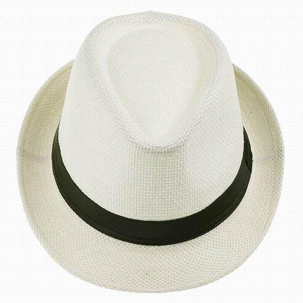 Women Men Unisex Braid Fedora Trilby Gangster Summer Beach Sunhat Sun Straw Panama Hat Couples Lovers Hats Caps – Modelos de crochê