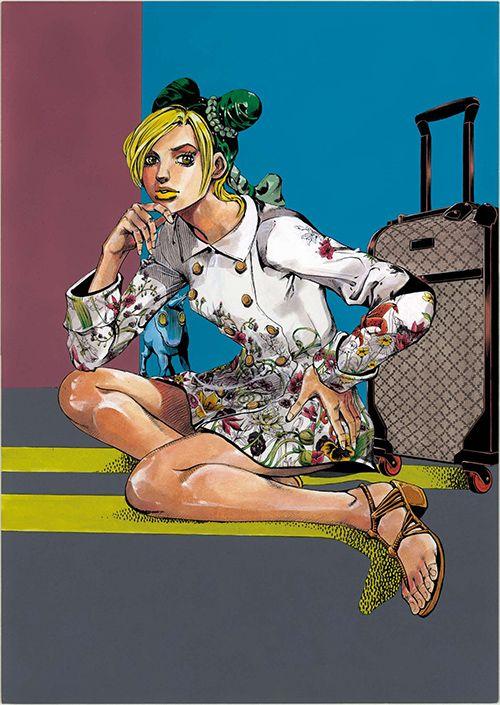 漫画JOJOの荒木飛呂彦が描くグッチ(GUCCI)のウィンドウデザイン - 全世界で展開の写真2
