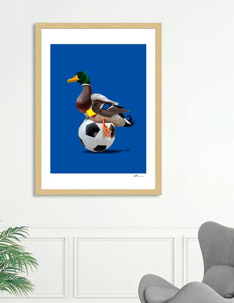 Discover «Fowl (Colour)», Numbered Edition Fine Art Print by rob art | illustration - art | decor | wall art | inspiration | animals | home decor | idea | humor | gifts