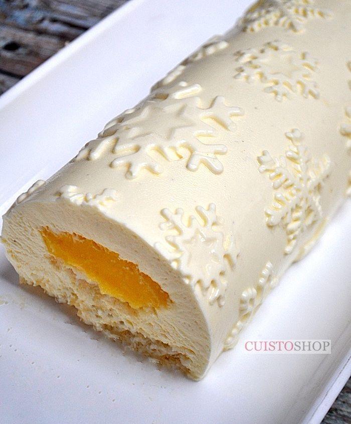 Bûche Fozen mousse Mascarpone & insert citron (avec le kit à bûche Frozen)