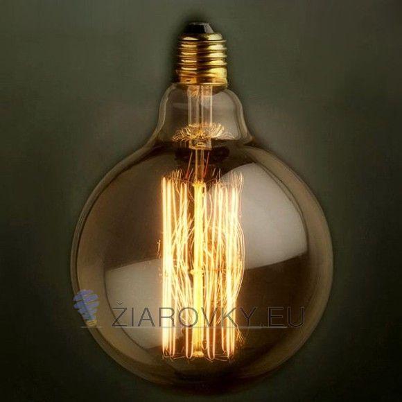 EDISON žiarovka - SPHERE  Navrhnutá v 19. storočí Thomasom Edisonom vyzerajú v dnešnej dobe autenticky a starožitne ako žiadny iný zdroj svetla.