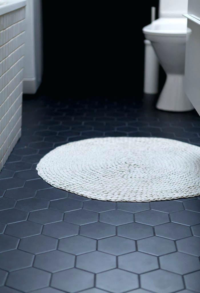 Hexagon Floor Tile Black 4 Hex