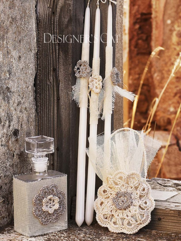 des. #EVITA  #Christening  Oil kit 5 pcs. (Bottle, #candles, scented soap) decorated with handmade flowers.  #βαπτισηκοριτσιου #βαπτιστικά #vaptisi #λαδοσέτ  #christeningcandle    http://www.catinthehat.gr/gia-koritsi/ladoset-koritsia/ladoset-evita.html