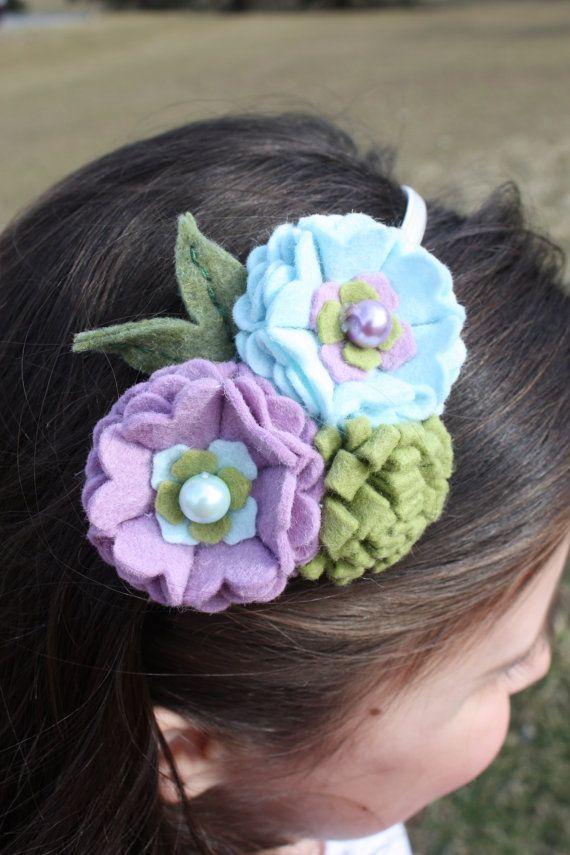 Handmade Felt Flower Headband by BlessingLaneBoutique on Etsy, $12.00